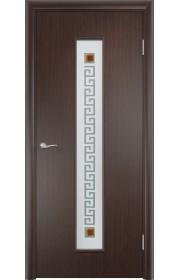 Двери Верда С-17 Венге Стекло Сатинато с фьюзингом квадрат