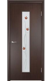 Двери Верда С-17 Венге Стекло Сатинато с фьюзингом тюльпан