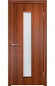 Двери Верда С-17 Итальянский орех Стекло Сатинато