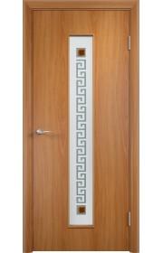 Двери Верда С-17 Миланский орех Стекло Сатинато с фьюзингом квадрат