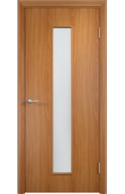 Двери Верда С-17 Миланский орех Стекло Сатинато