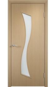 Двери Верда С-19 Беленый дуб Стекло Сатинато