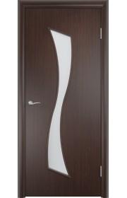 Двери Верда С-19 Венге Стекло Сатинато