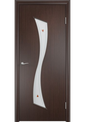Двери Верда С-19 Венге Стекло Сатинато с фьюзингом