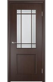 Двери Верда С-20 Венге Стекло Сатинато с фьюзингом