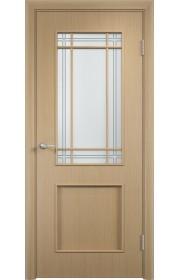 Двери Верда С-20 Беленый дуб Стекло Сатинато с фьюзингом