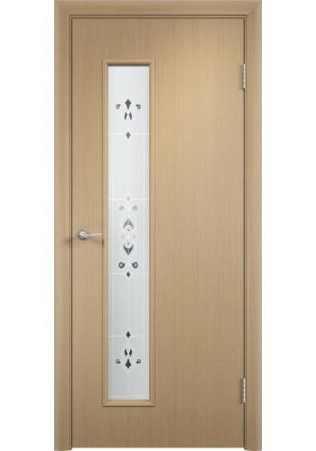 Двери Верда С-22 Беленый дуб Художественное остекление Барокко