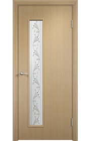 Двери Верда С-22 Беленый дуб Художественное остекление Вьюн
