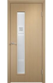 Двери Верда С-22 Беленый дуб Художественное остекление Модерн