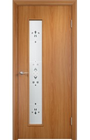 Двери Верда С-22 Миланский орех Художественное остекление Барокко