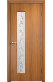 Двери Верда С-22 Миланский орех Художественное остекление Вьюн