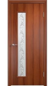 Двери Верда С-22 Итальянский орех Художественное остекление Вьюн