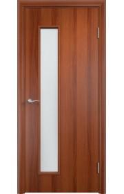 Двери Верда С-22 Итальянский орех Стекло Сатинато