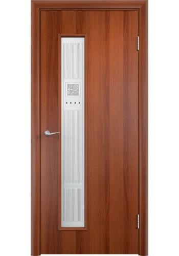 Двери Верда С-22 Итальянский орех Художественное остекление Модерн