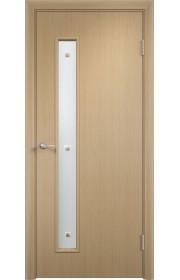 Двери Верда С-28 Беленый дуб Стекло Сатинато с фьюзингом