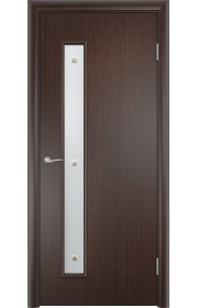 Двери Верда С-28 Венге Стекло Сатинато с фьюзингом