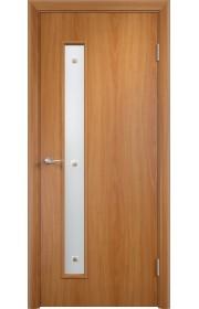Двери Верда С-28 Миланский орех Стекло Сатинато с фьюзингом