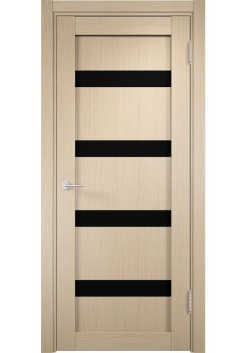 Двери Верда Верона 05 Беленый дуб Стекло Черный Триплекс