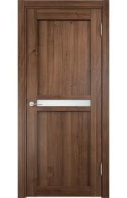 Двери Верда Ливорно 01 Орех Стекло Сатинато Люкс