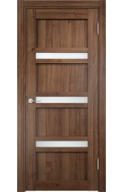 Двери Верда Ливорно 05 Орех Стекло Сатинато Люкс