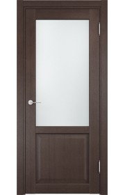 Двери Верда Рома 24-2 Венге Стекло Сатинато Люкс