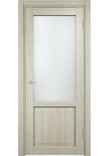 Двери Верда Рома 24-2 Беленый дуб Патина Стекло Сатинато Люкс