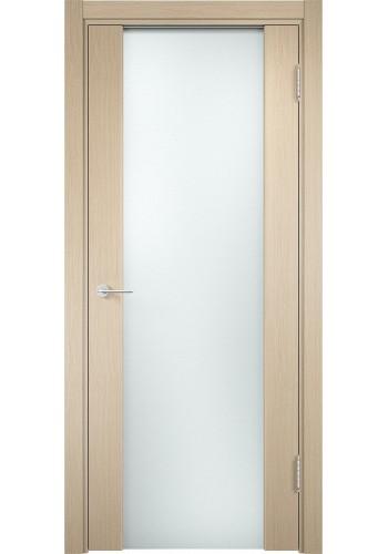 Двери Верда Сан-Ремо 01 Беленый дуб Стекло Белый Триплекс