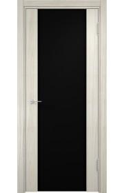 Двери Верда Сан-Ремо 01 Беленый дуб Мелинга Стекло Черный Триплекс