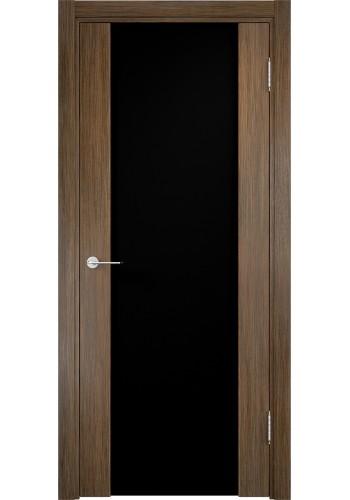 Двери Верда Сан-Ремо 01 Венге Мелинга Стекло Черный Триплекс