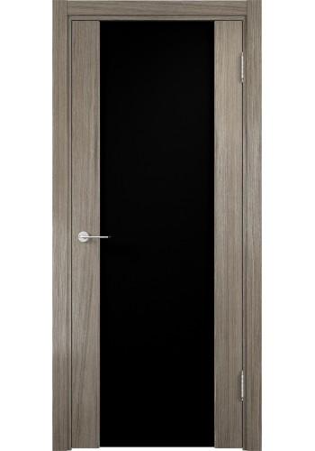 Двери Верда Сан-Ремо 01 Вишня Малага Стекло Черный Триплекс