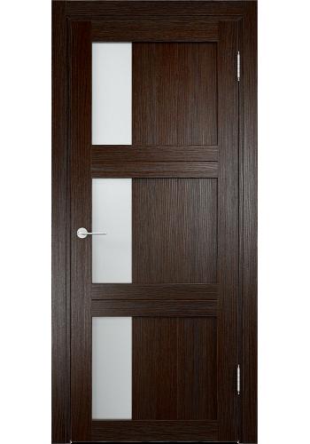 Двери Верда Баден 06 Темный дуб Стекло Сатинато