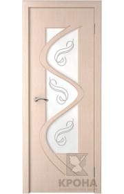 Двери Верда Вега Крона Беленый Дуб Стекло Художественное