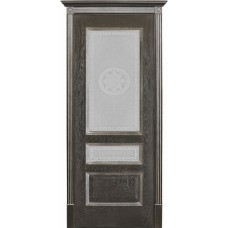 Двери Вист Вена Черная Патина стекло Версачи