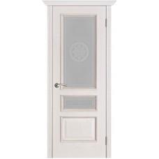 Двери Вист Вена Белая патина стекло Версачи