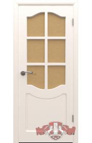 Двери ВФД Классика 2ДР0 Белые Стекло