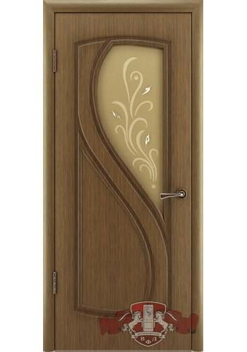 Дверь ВФД Грация 10ДО3 Орех Стекло
