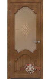 Двери ВФД Венеция 11ДО3 Орех со стеклом