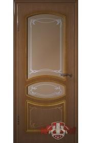 Двери ВФД Версаль 13ДР3 Орех со стеклом