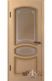 Двери ВФД Версаль 13ДР1 Светлый дуб со стеклом