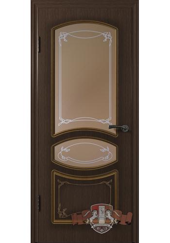 Двери ВФД Версаль 13ДР4 Венге со стеклом