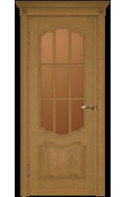Двери Белоруссии Престиж каштан с решеткой ДО