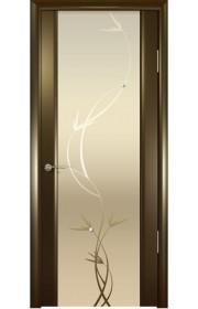 Дверь Океан Шторм 3 Венге Стекло светлое Растение