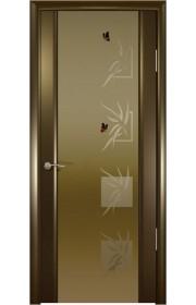 Дверь Океан Шторм 3 Венге Стекло темное Бабочки