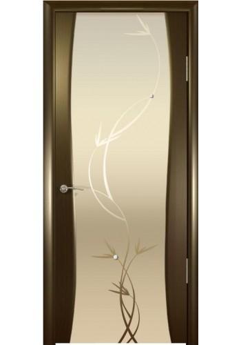 Дверь Океан Буревестник-2 Венге Стекло светлое Растение