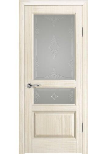 Дверь Океан Марсель Ясень белый жемчуг Стекло белое
