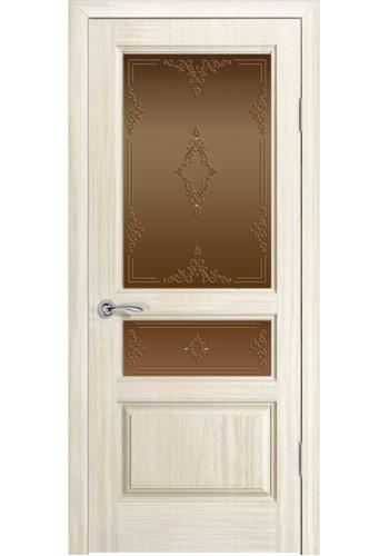 Дверь Океан Марсель Ясень белый жемчуг Стекло бронза