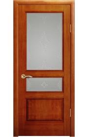Дверь Океан Марсель Красное дерево стекло Белое