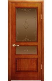 Дверь Океан Марсель Красное дерево стекло Бронза