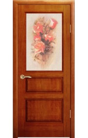 Дверь Океан Марсель Красное дерево стекло Ретро