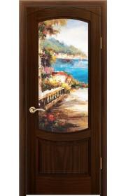 Дверь Океан Лувр Ясень винтаж стекло Новелла